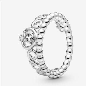 Silver pandora crown ring